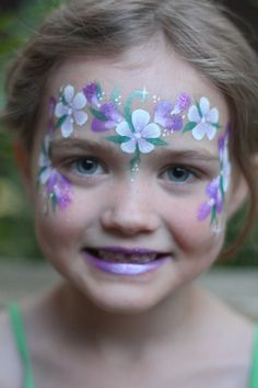 Nadine's Dreams Face Painting Calgary | Princess Face Paint | Flower Crown Face…