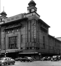 Alhambra Theatre, a Glasgow institution at the  corner of Waterloo Street and Wellington Street.