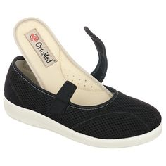 Pantofi ortopedici de vara, pentru femei, OrtoMed 6089-T21. Gama de marimi fabricate: 36-42. Pantofii sunt fabricati din material textil tip fagure in combinatie cu microfibra ( calcai si bareta ). Brantul este detasabil / interschimbabil. Bareta este reglabila, fiind prevazuta cu velcro/arici. Calapod lat.