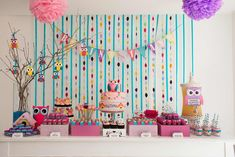 Owl Party styled by Julia from Festa com Gosto. Photography by Giselle Sauer.