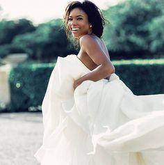 Gabrielle Union Looks Ravishing In Never Seen Before Wedding Photos Second Wedding Dresses, Celebrity Wedding Dresses, Wedding Dress Pictures, Wedding Pics, Celebrity Weddings, One Shoulder Wedding Dress, Dream Wedding, Wedding Day, Wedding Dreams