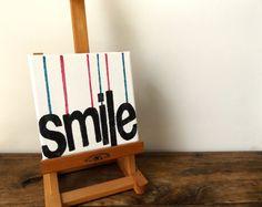 Smile Canvas  Mini canvas Wall Art  Smile art  by MakeMemento