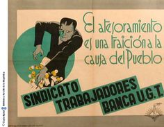 El Atesoramiento es una traición a la causa del pueblo :: Cartells del Pavelló de la República (Universitat de Barcelona)