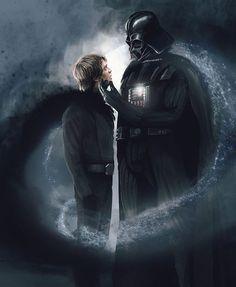 Darth Vader and Luke Skywalker - Star Wars Fan Art, Star Wars Saga, Star Wars Luke, Vader Star Wars, Star Wars Rebels, Images Star Wars, Star Wars Pictures, Lego Disney, Lego Poster
