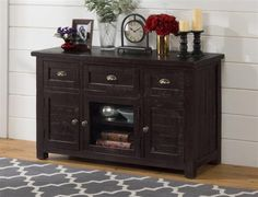Prospect Creek Casual Brown Wood 50 Inches Media / Storage Unit