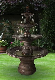 Tiered Fountains | ... Tier Fountain Grande Kensington Three Tier Fountain  Item 5595f6 Hs | Lawn U0026 Garden | Pinterest | Studios, Cast Stone And Ps