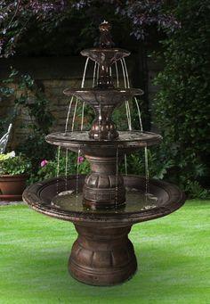 Tiered Fountains | ... Tier Fountain Grande Kensington Three Tier Fountain  Item 5595f6 Hs | Lawn U0026 Garden | Pinterest | Studios, Cast Stone And Ps