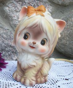 VIntage Night Light Cat /Dog Lefton Japan by 2sisterspicks on Etsy,