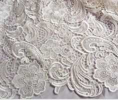 Ivory Lace Fabric Crochet Lace Fabric Bridal Lace by lacetime, $33.00