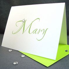Personalized Blank Note Cards / Traditional by ZeeBestCelebrations