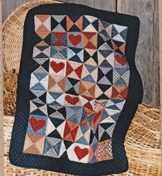 Heart and Hourglass quilt