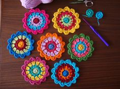 Beautiful crocheting on this blog!