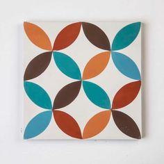 Cirque's simple geometry and symmetry create a beautiful pattern that works well in a variety of different settings. The compact scale is perfect in Encaustic Tile, Tiles Texture, Epoch, Color Shades, Beautiful Patterns, Earthy Colours, Cement, Geometry, In The Heights