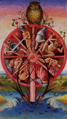 "apdistractions: "" Tarot - Wheel of Fortune - (Hieronymus Bosch) """