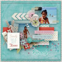 Layout using {Down By The Sea} Digital Scrapbook Kit by Digital Scrapbook Ingredients available at Sweet Shoppe Designs http://www.sweetshoppedesigns.com//sweetshoppe/product.php?productid=31689&cat=770&page=1 #digitalscrapbookingredients