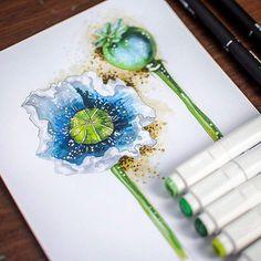 182 отметок «Нравится», 12 комментариев — Nastya Kim (@by_nastya_kim) в Instagram: «Мммм... мммак! #nastyakimdraw #illustration #flower #instaday #instagram #marker #markers…»