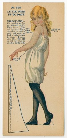 Little Miss up-to-Date Paper Doll ca. 1920 -Manufacturer American Colortype Co. -Material Printed Paper | Origin Chicago, Illinois78.2743: Little Miss up-to-Date | paper doll | Paper Dolls | Dolls | Online Collections | The Strong