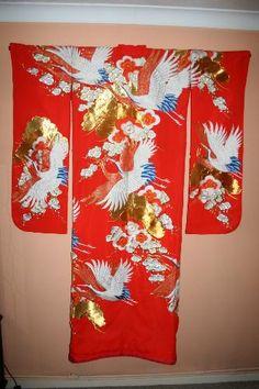 Antique wedding kimono
