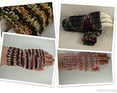 Fingerless Gloves  hand knit Handwarmers, Winter Fashion gloves