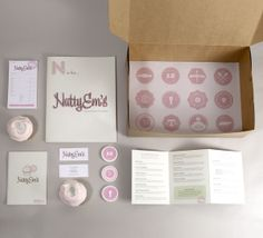 NattyEm's Cupcakes by Breyna Fries, via Behance