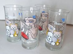 1982 E.T. Glasses Set of Four Pizza Hut by TimeEnoughAtLast