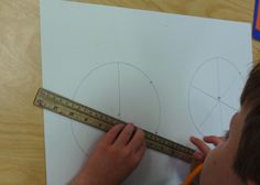 2nd grade artists learn how to estimate, scale and divide circles in order to create their own color wheels