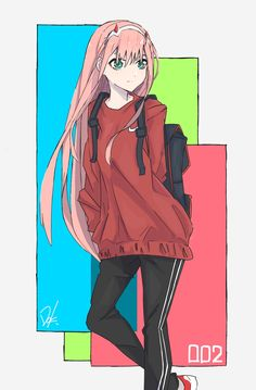 Darling in the Franxx, Darling in the Franxx, Zero Two (Darling in the Franxx) / ゼロツー - pixiv Chica Anime Manga, Kawaii Anime, Akira, Waifu Material, Zero Two, Drawing Reference Poses, Cute Anime Wallpaper, Best Waifu, Darling In The Franxx
