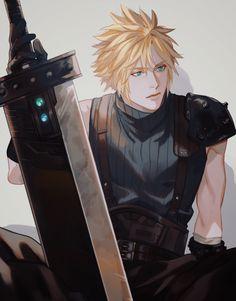 Final Fantasy Cloud, Final Fantasy Artwork, Final Fantasy Characters, Final Fantasy Vii Remake, Fantasy Series, Cloud And Tifa, Cloud Strife, Final Fantasy Collection, Fanarts Anime
