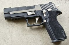 Sig Sauer P227 .45. One of the nicest handguns I have ever used.