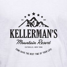 """Kellerman's Mountain Resort - Catskills, New York - Come have the best time of your life! This tribute t-shirt is inspired by the 1987 movie """"Dirty Dancing"""". #tshirt $19.99"""