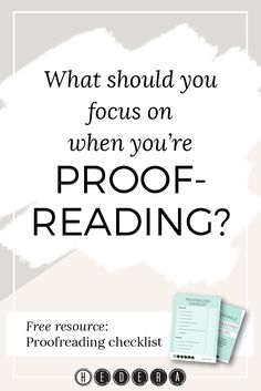 Proofreading is the highlight of my day, but for many it's just another  necessary, boring task. I've lost count of the number of times I've heard  people say they hate it.  Nevertheless, everyone knows by now the long list of reasons that  proofreading is so important. It's a crucial step, and you want to make  sure you're doing it well. Knowing what to look for when you're  proofreading will help to make you a better and more efficient proofreader.