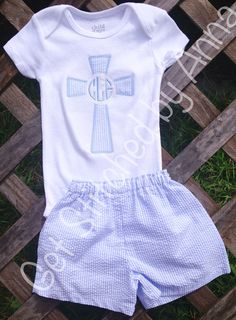 Baby boy Christening outfit or after church by GetStitchedByAnna, $30.00