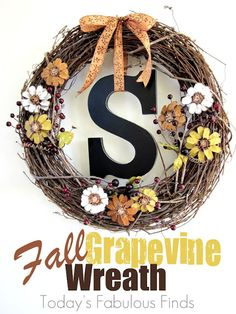 Today's Fabulous Finds: Fall Grapevine Wreath with Pine Cone Flowers {Take Two} Pinecone Crafts Kids, Pine Cone Crafts, Fall Crafts, Crafts For Kids, Kids Diy, Pinecone Decor, Dyi Crafts, Wreath Crafts, Garden Crafts