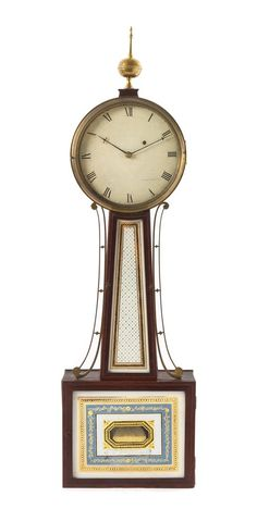 A Federal Mahogany Banjo Clock , estimate: $30,000 to $50,000 | Leslie Hindman Auctioneers | Fine Furniture and Decorative Arts auction | Leslie Hindman Auctioneers