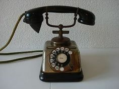 ANTIQUE Kjobenhavns Telefon Aktieselskab DANISH ROTARY PHONE 1930's