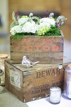 vintage wood boxes for decoration