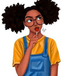Five 60 Second Hairstyles Art Black Love, Black Girl Art, Black Art Painting, Black Artwork, Art Afro Au Naturel, Drawings Of Black Girls, Girl Drawings, Natural Hair Art, Black Girl Cartoon