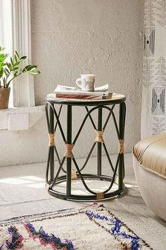 boho-black-tan-natural-fibers-side-table.jpeg (493×740)