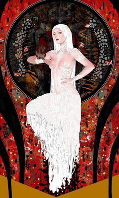 Illustrations, Illustration Art, Wow Art, Alphonse Mucha, Fantasy Artwork, Dark Art, Art Inspo, Art Reference, Character Art