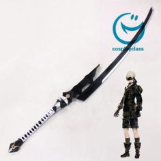 NieR:Automata 9S YoRHa No.9 Type S Sword Cosplay Weapons A black katana kept by warrior monks of the east  #nierautomata9s #cosplayclass #nierautomatacosplay #weapon #prop #cosplay