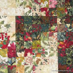 Wall Hanging - Christmas Color Wash Style Quilt