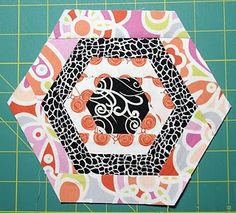 hexagon cabin quilt block for Kelly