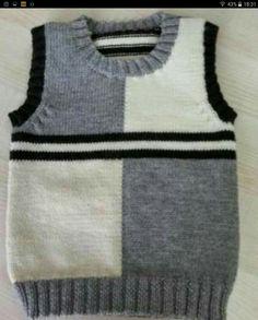 Süveter modelleri – Knitting patterns, knitting designs, knitting for beginners. Baby Boy Knitting Patterns, Knitting For Kids, Knitting Designs, Pull Bebe, Knit Baby Sweaters, Vest Pattern, Baby Cardigan, Baby Poncho, Sweater Design
