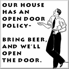 i like this open door policy...