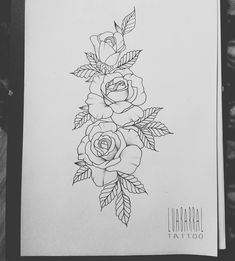 No photo description available. Tattoo Design Drawings, Flower Tattoo Designs, Tattoo Sketches, Flower Tattoos, Dot Tattoos, Body Art Tattoos, Sleeve Tattoos, S Tattoo, Rose Outline Tattoo