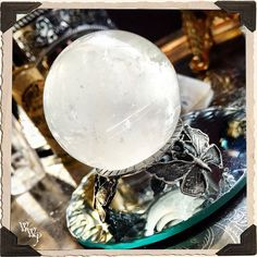 CLEAR QUARTZ SPHERE Crystal. Spiritual Purification & Energy Amplifier. 40mm