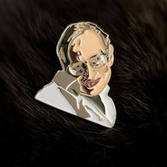 Stephen Hawking Enamel Lapel Pin / Brooch Stephan Hawkings, Pin And Patches, Poly Bags, Everyday Carry, Out Of Style, Lapel Pins, Pretty Little, Brooch Pin, Butterfly