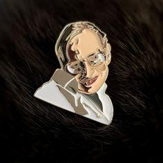 Stephen Hawking Enamel Lapel Pin / Brooch