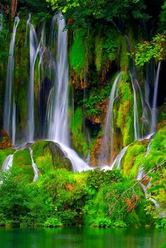 One of the many beautiful waterfalls in Croatia.