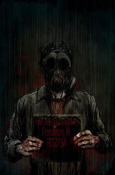 """Silent Hill Downpour - Murphy Pendleton - Artwork by Tristan """"T-Rex"""" Jones."""